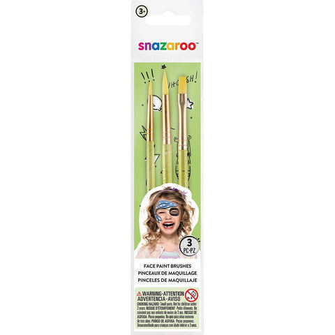 Snazaroo Face Painting Brush Set pk 3