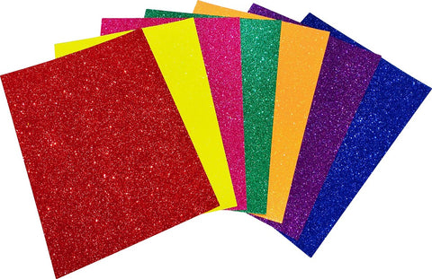 Rainbow Colours Glitter A4 Card 230gsm (Pack of 7 Sheets)