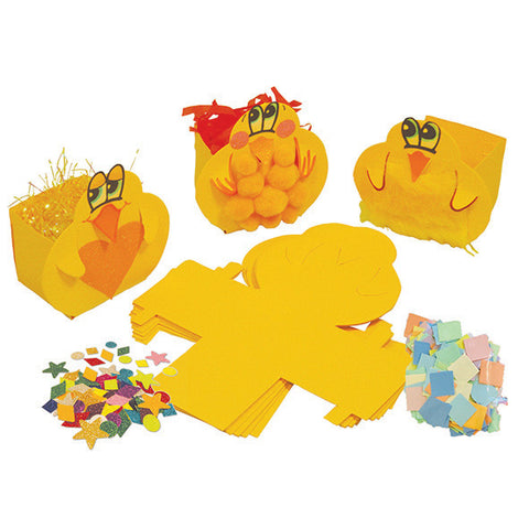 HomeCraftz Easter Chick Boxes Craft Kit pk 5