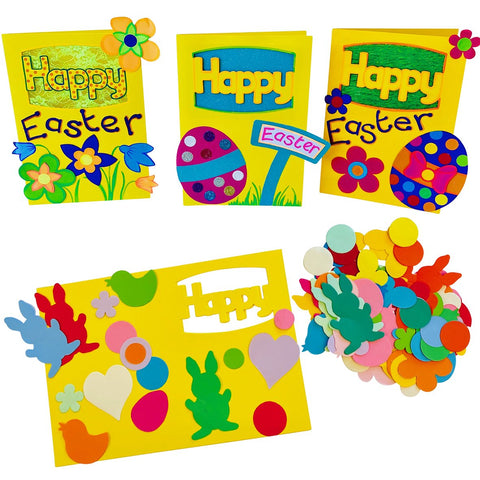 HomeCraftz Happy Easter Cards Craft Kit pk 10