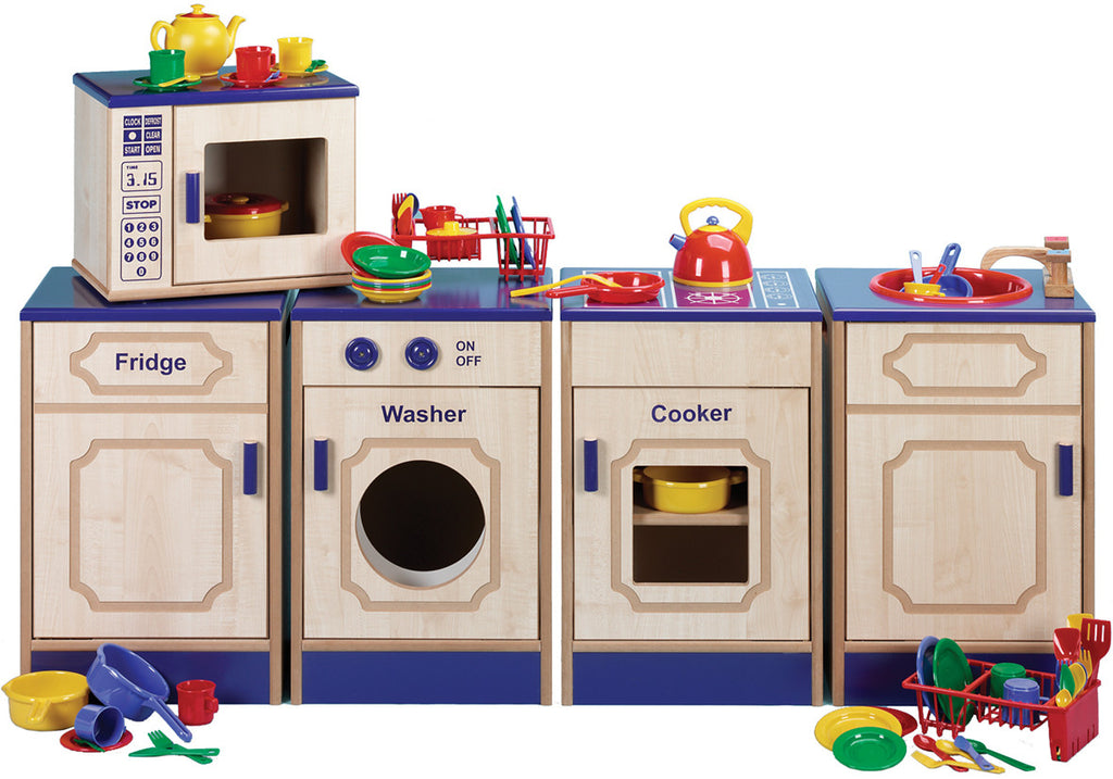Assembled Wooden Classroom Kitchen with Accessories