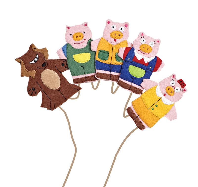 Three Pigs Finger Puppets pk 5