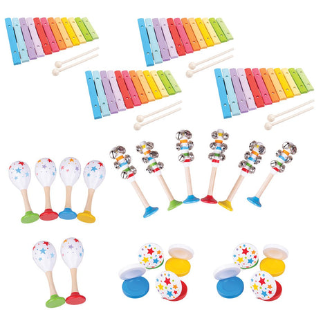 Wooden Pre-School Music Set