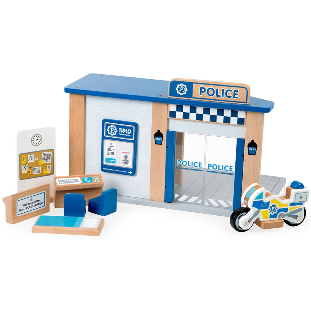 Wooden Police Station Play Set