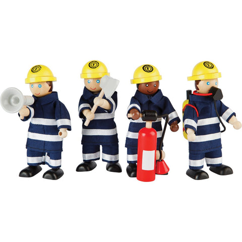 Fire Fighters Doll Set pk 4