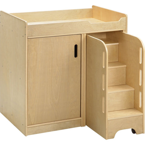 Wooden Changing Unit with Storage