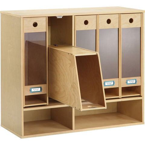Wall-Mounted Wooden Nappy Sorter