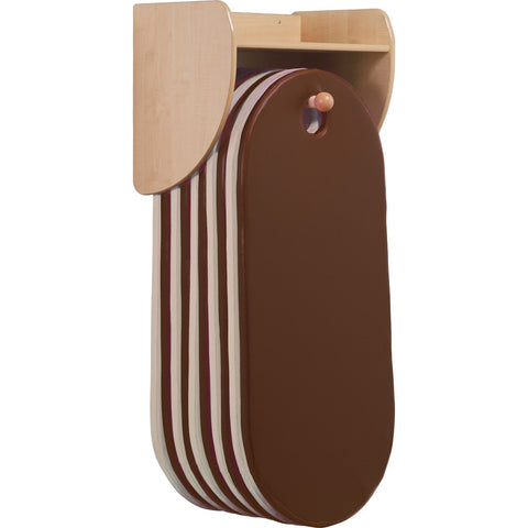 Wall-Mounted Slumberstore Sleep Mat Storage (Brown/Cream) - Wall Mounted Brown / Cream mats
