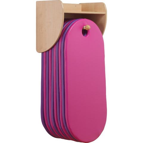 Wall-Mounted Slumberstore Sleep Mat Storage (Pink/Purple)