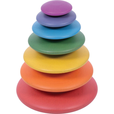 Rainbow Wooden Buttons pk 7