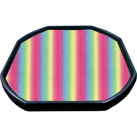 Glitter Tray Mat - Rainbow (Large)