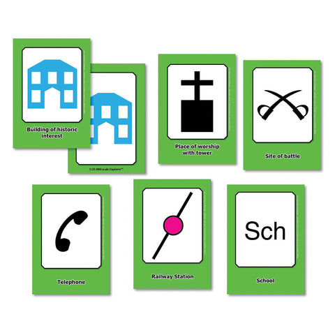 OS Map Symbols Flashcards pk 32