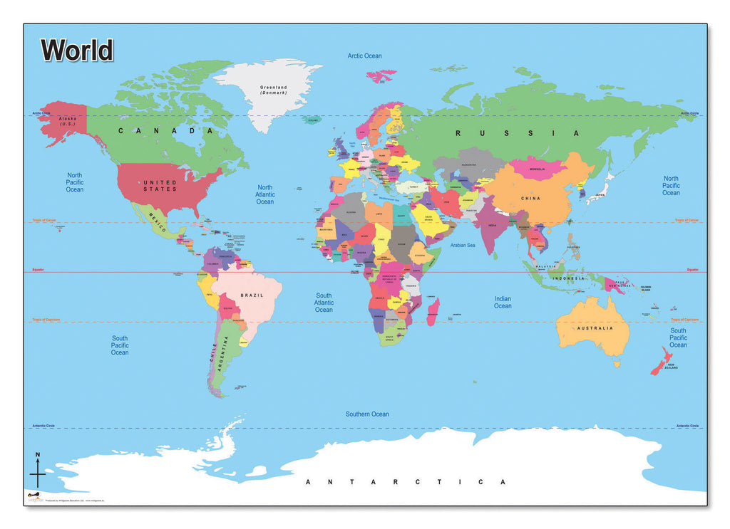 Simple World Map Springboard Supplies