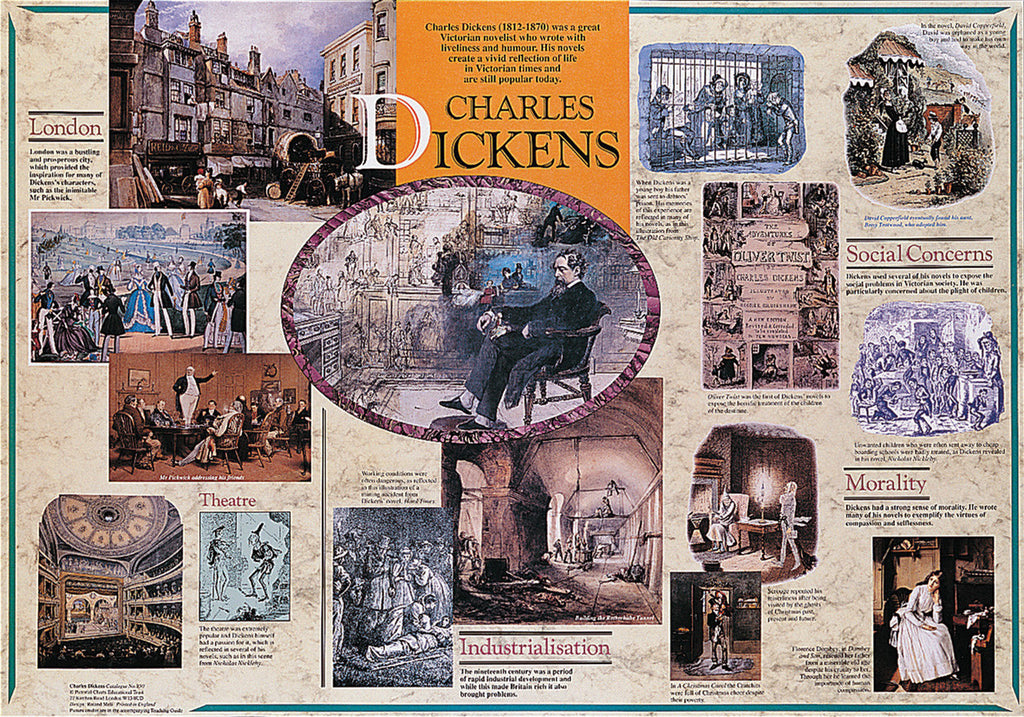Charles Dickens Poster & Teachers Guide