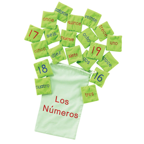 Number Bean Bags - Spanish pk 20