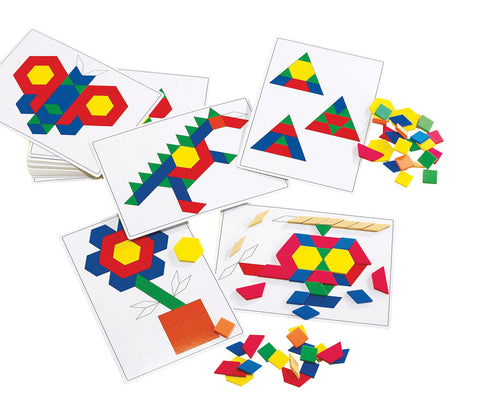Rainbow Pattern Block Cards pk 20