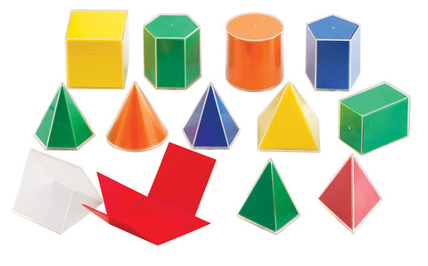 Folding Geometric Solids 2D to 3D pk 12