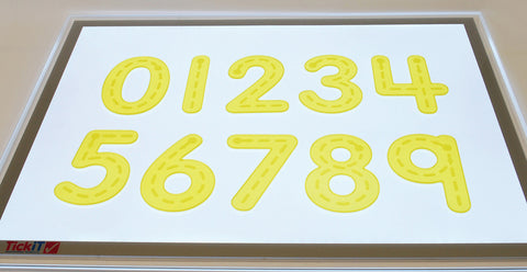 SiliShapes Tactile Number Tracers pk 10