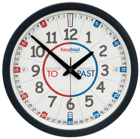 EasyRead Classroom Past & To Wall Clock