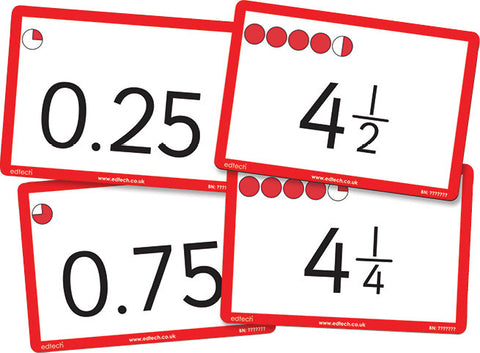Fraction & Decimal Counting Cards pk 40