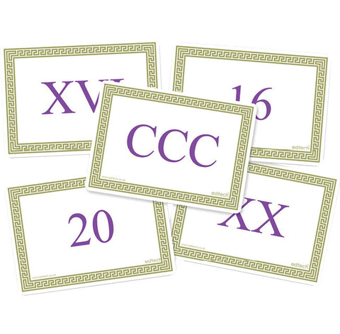 Roman Numeral Cards pk 40