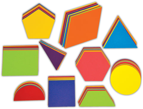 Jumbo Geometric Card Shapes pk 100