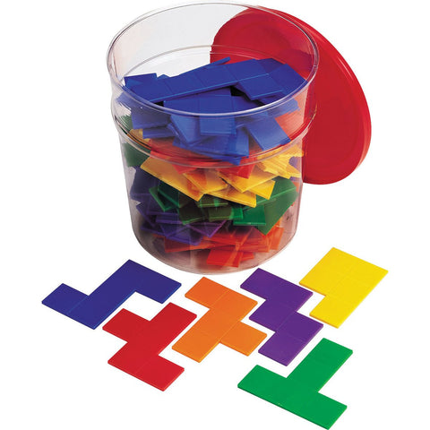 Rainbow Pentominoes Bucket pk 72