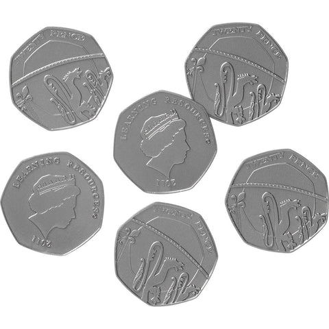 Role Play Money - 20p Coins pk 100