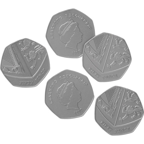 Role Play Money - 50p Coins pk 100