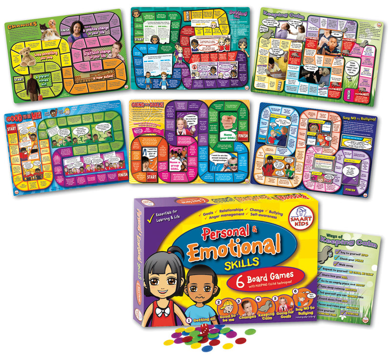 Personal and Emotional Skills Games Set pk6