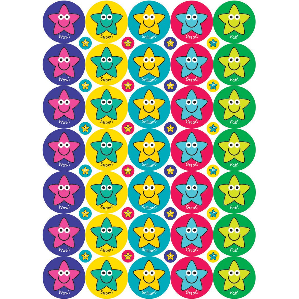 Exclamations-Star-Stickers---38/10mm-pk-10