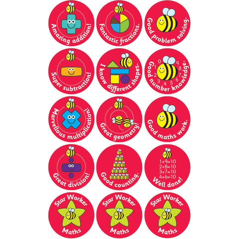Maths-Stickers---38mm-pk-5