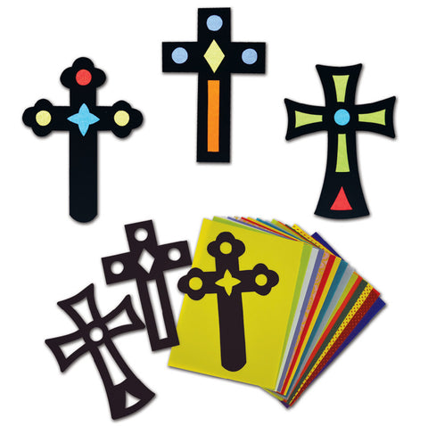 Stained Glass Crosses pk 30