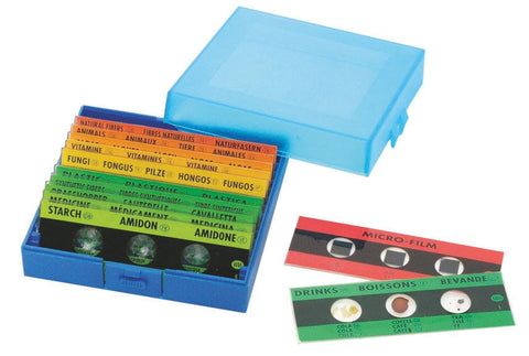 Prepared Microscope Slides pk 12