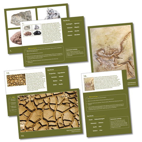 Rocks, Soils and Fossils Photopack