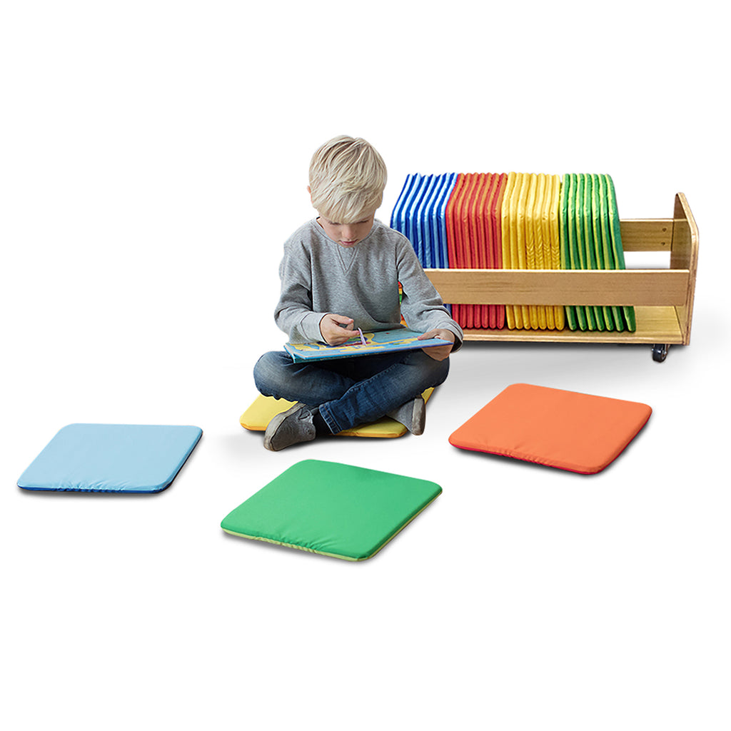 Rainbow Square Cushions with Tuf Trolley pk 32