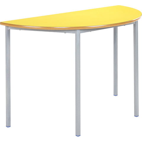 Fully Welded Classroom Table - Semi-Circle