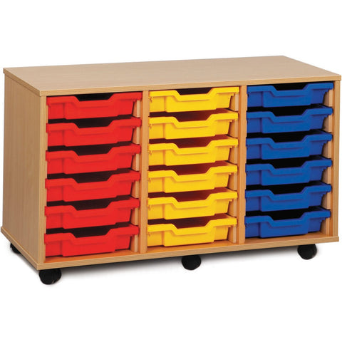 18-Shallow-Tray-Unit-(Triple)---Beech-