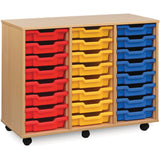 24-Shallow-Tray-Unit-(Triple)---Beech-