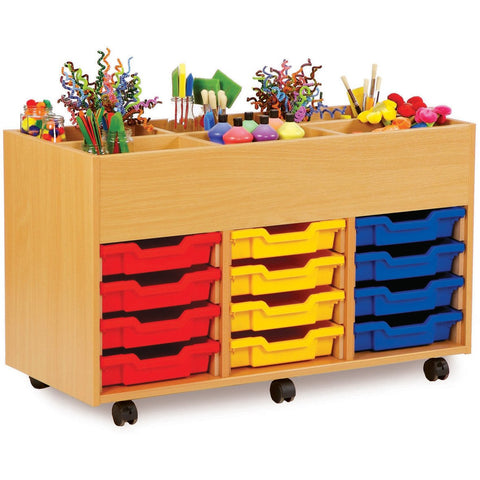 6-Bay-Kinderbox-with-12-Shallow-trays---Beech-