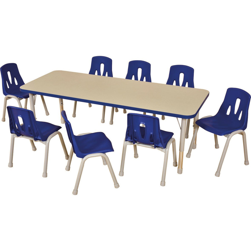 Thrifty-Rectangular-Table-(8-Seater)---Blue-