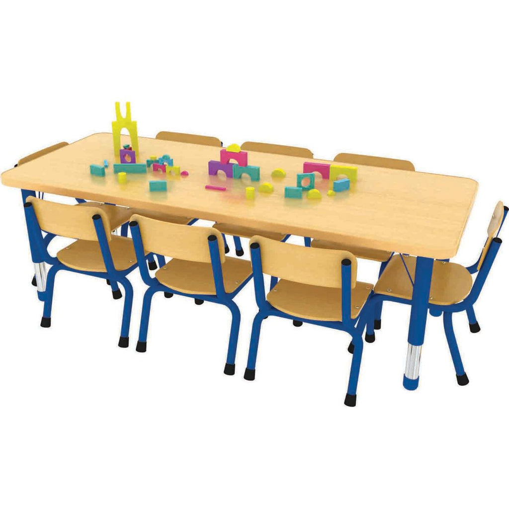 Milan-Rectangular-Table-(8-Seater)---Blue-