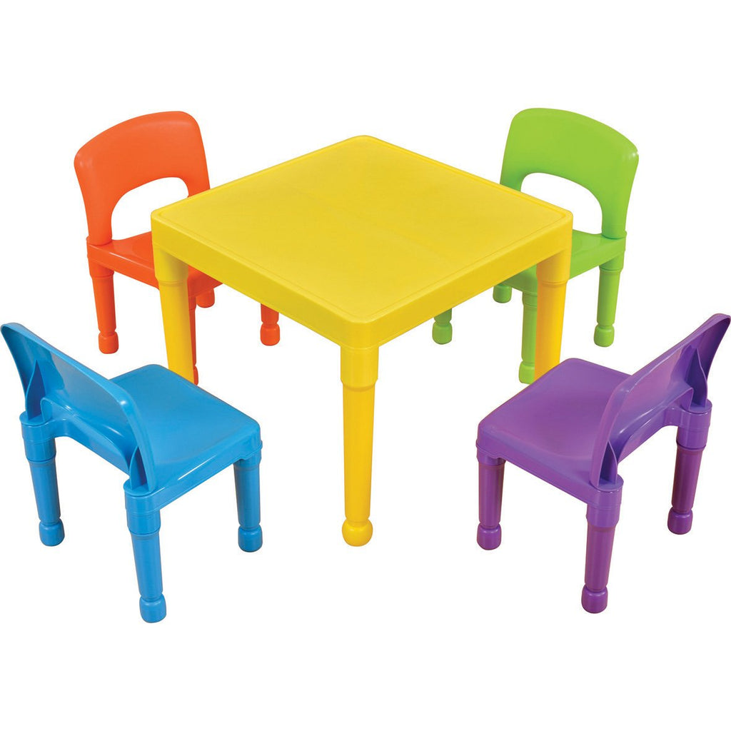 Rainbow-Plastic-Table-and-Chairs-