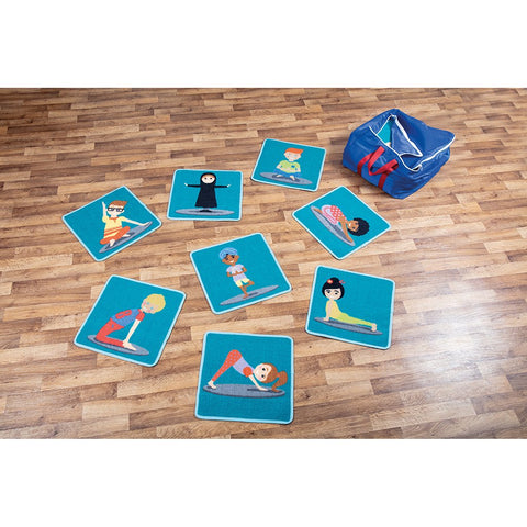 Yoga Position Mini Carpets pk 32