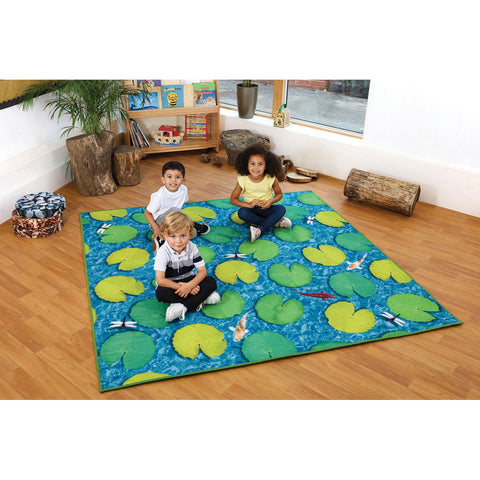 Grass & Lily Pad Double-Sided Carpet