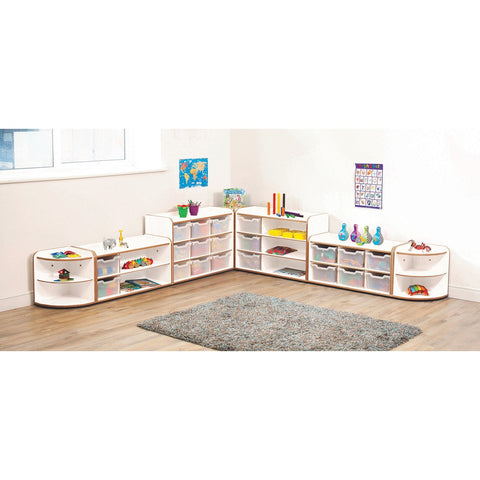 Solway Storage Funiture Set 1 - White (Clear Trays)