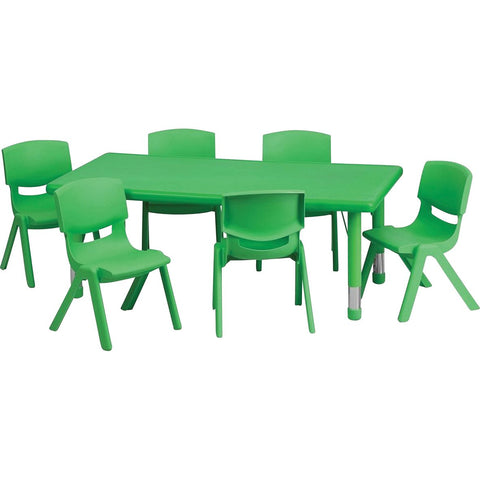 Plastic Rectangular Classroom Table (Green)