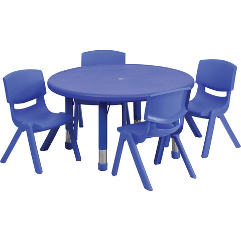 Plastic Round Classroom Table (Blue)
