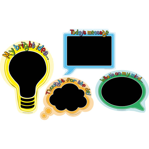 Speech Bubble Chalkboards (Set of 4)