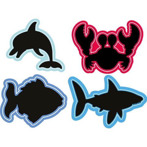 Sealife Chalkboards (Set of 4)